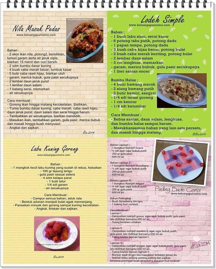 Nila masak pedas, lodeh simple, labu kuning goreng, pudding buah ceria