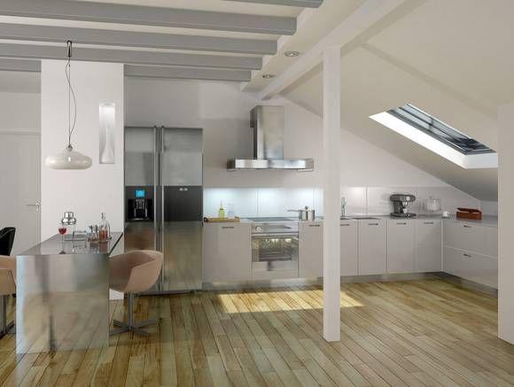 kuchenschrank unter beleuchtung : Dachwohnungen zwingen deren Bewohner zu einer passenden Einrichtung ...