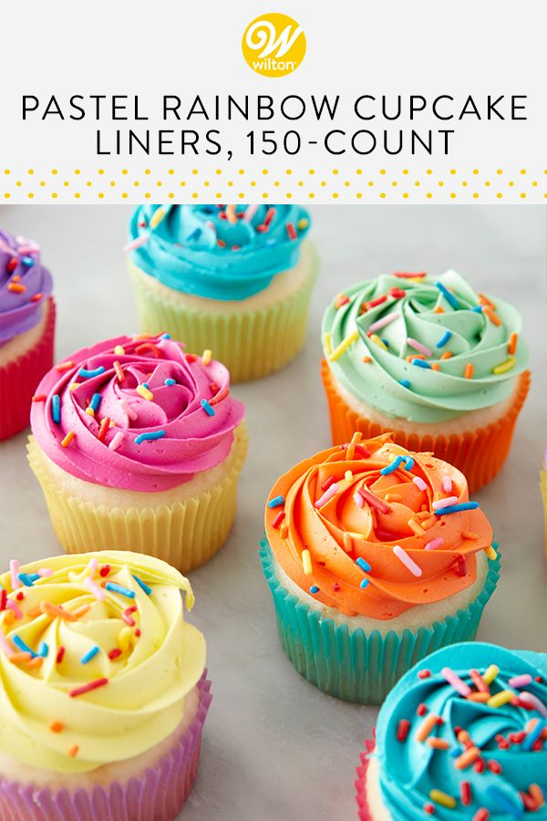 Pastel Rainbow Cupcake Liners 150 Count With Images Easy Cake