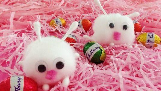 Itty Bitty Cotton Ball Bunny Crafts