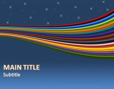 Ribbon and Flow Microsoft PowerPoint Templates