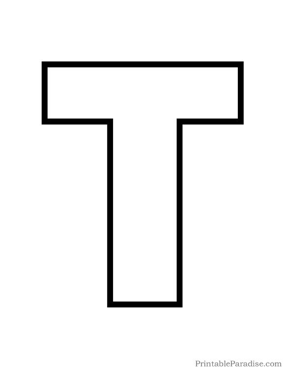 print free large outline of the letter t letter t outline to use for kids coloring page bubble letter t cutout on full sheet of paper