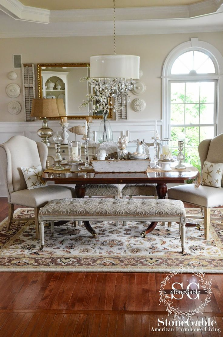 A stroll thru life pulling it all together stonegable for All white dining room