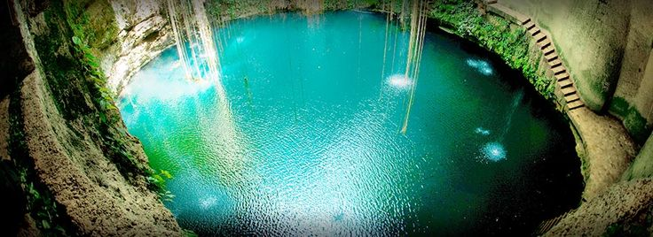 Cenote Ik Kil is sacred to the Mayans and the Mayans used this cenote for both relaxation and ritual services