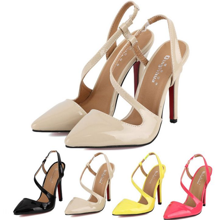 Cheap women braclet, Buy Quality womens shoes flats directly from China shoe suede Suppliers: Nude heels pointed toes high heels red bottom high heels nude beige black pink gladiator ankle strap Women pumpsUS $ 46.