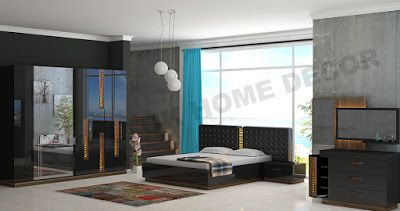 AS Koltuk Home Decor: For Sale - Black and Brown Modern Bedroom Set (ARY...