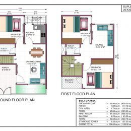 House Plan For South Facing Plot With Two Bedrooms 20 60 House Plan House Plan In 20 60 Plot House Construction Plan 20x30 House Plans Duplex House Plans