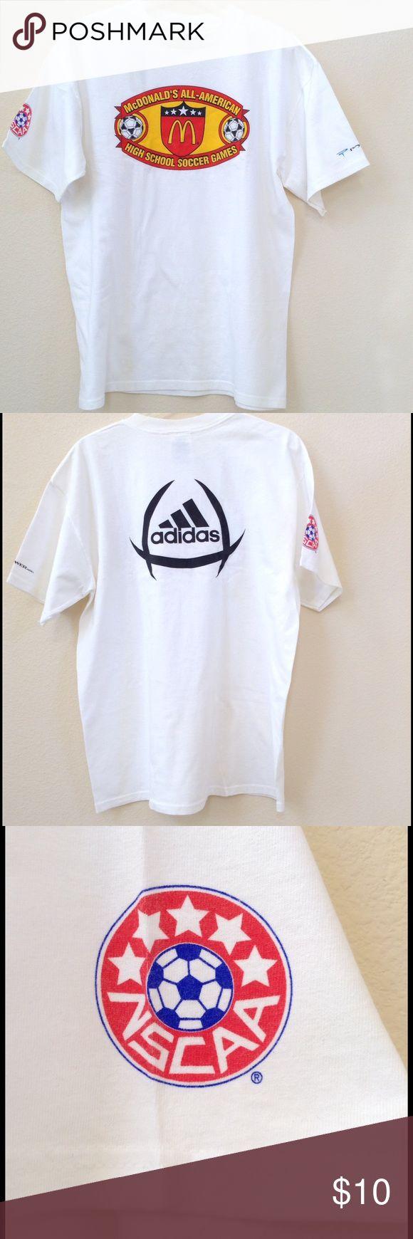 Men's Adidas Soccer TShirt McDonalds All American soccer Adidas TShirt.   100% cotton. No year date! Adidas Shirts Tees - Short Sleeve