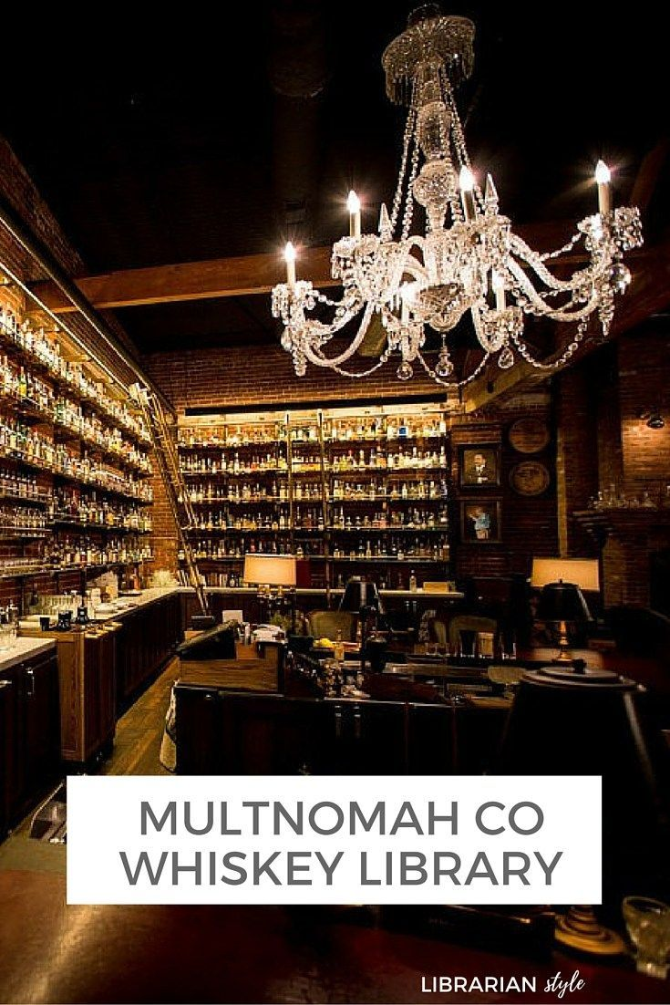 Going to Portland and love whiskey? You MUST check out the Multnomah Co Whiskey Library - it's a one of a kind bar experience!