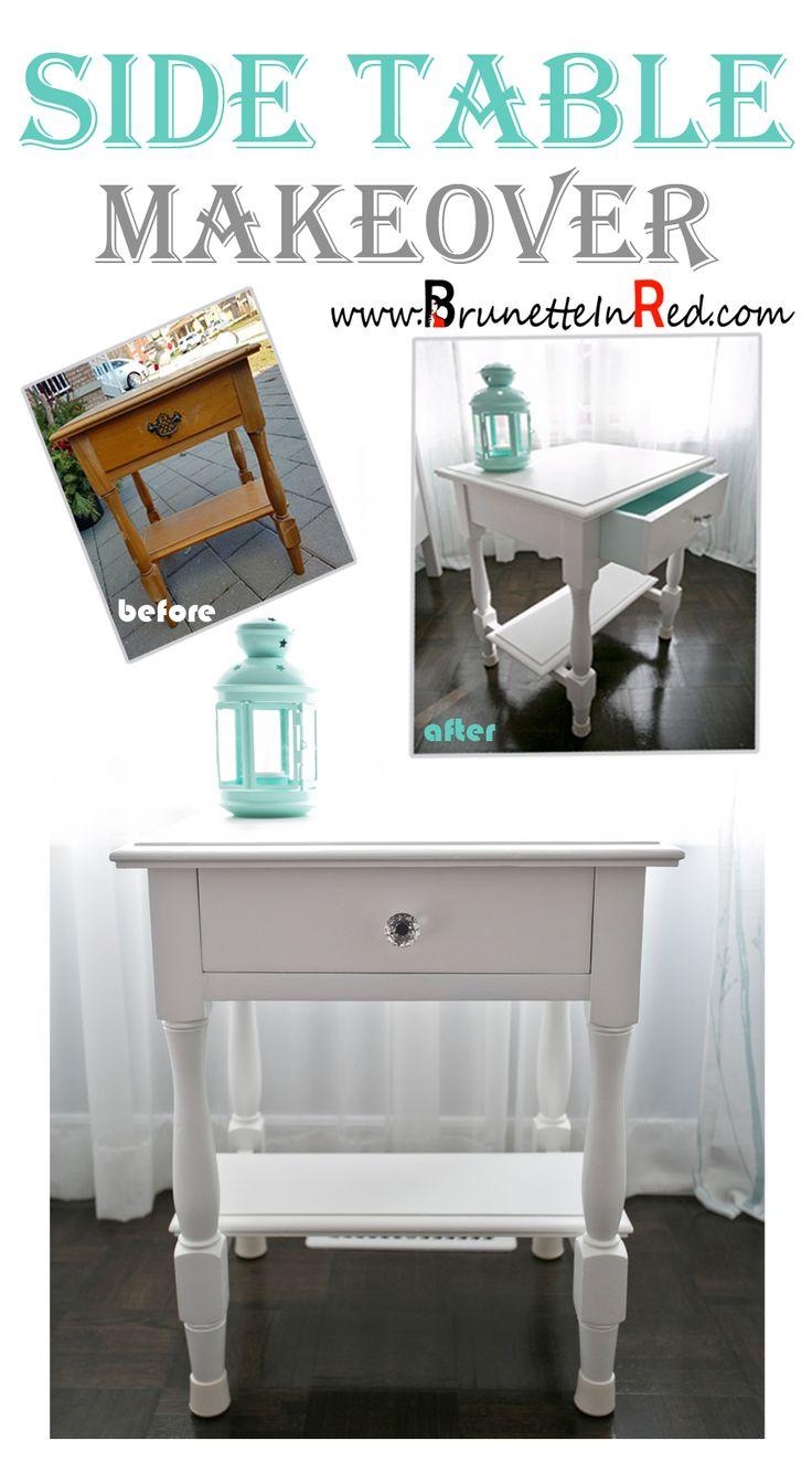 Side table |makeover #diy #makeover #sidetable