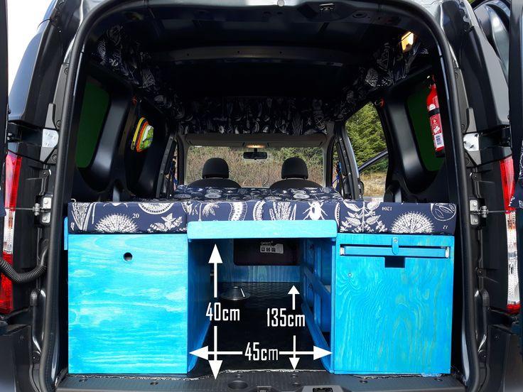 Dacia Dokker. Storage under the sleeping area.