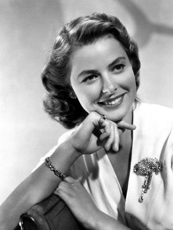 Ingrid Bergman (* 29. August 1915 in Stockholm; † 29. August 1982 in London) war eine schwedische Schauspielerin.