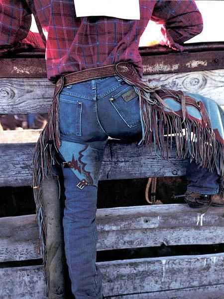 Jeans and chaps and boots and hats, love cowboys