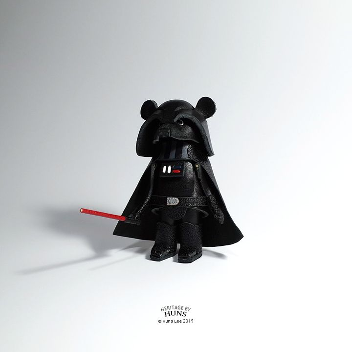 Heritage by Huns 2015. Leather bear No.037. Dearth vader