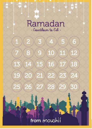 Download your FREE Ramadan Moushii Calendar | Moushii blog