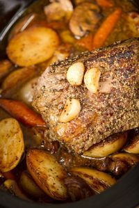 Slow cooked Silverside with Red Wine