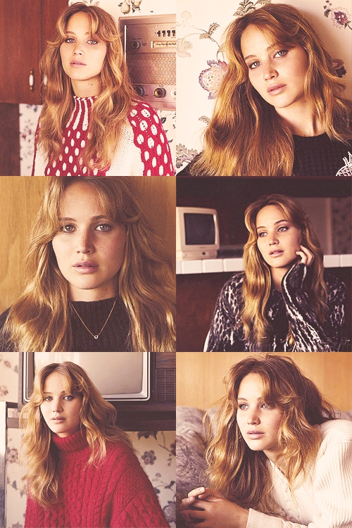 Jennifer Lawrence for Vogue UK (November) - that 1970's hair and knitwear! Sigh...