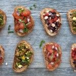 Serve this three-in-one #bruschetta appetizer at your next dinner party. Each healthy topping will complement your entrees and dazzle your guests. #hearthealthy #recipe