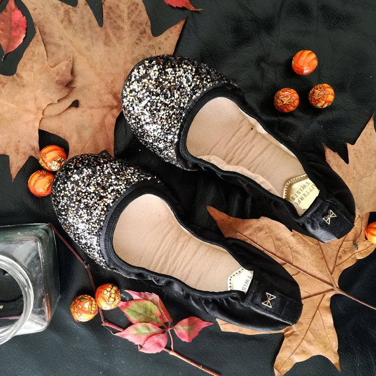 Enjoying fall vibes with my new Ashley disco glitter flats by ButterflyTwists   #flatlay #shoes #flats #glitteryshoes #falltrends