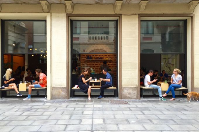 Federal Cafe in El Barri Gotic, Barcelona