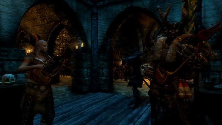When your character becomes a Lordi band member. #games #Skyrim #elderscrolls #BE3 #gaming #videogames #Concours #NGC