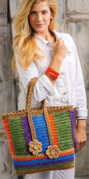 bolsa colorida em crochê #crochetbag #color #fashioncrochet