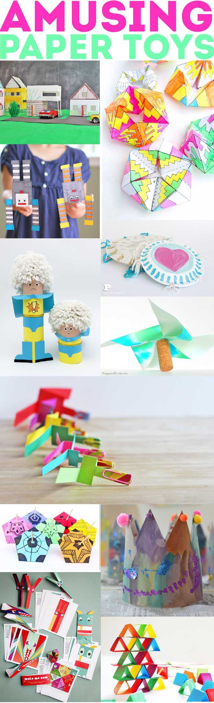 60 paper crafts for kids and adults from the rockin art moms paper - Pictures Of Crafts For Kids