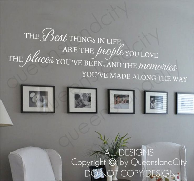 Details About The Best Things In Life Love Memories Wall Quote Home Art Decal Vinyl Sticker