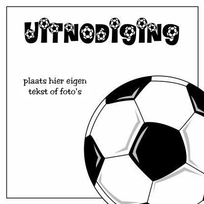uitnodiging voetbal - Uitnodigingen - Kaartje2go