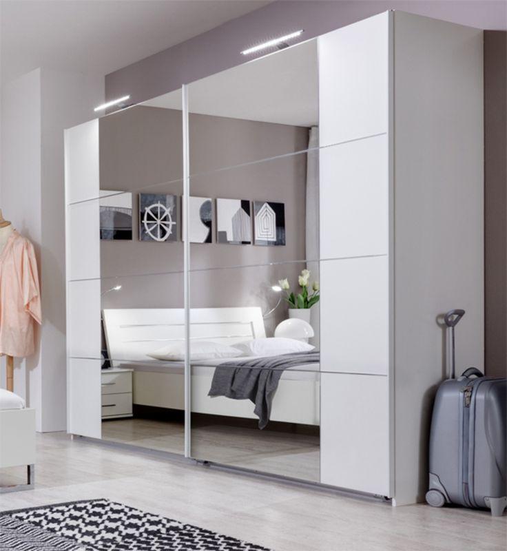 17 meilleures id es propos de armoire porte coulissante sur pinterest por - Armoire dressing portes coulissantes miroir ...