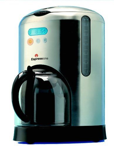 SALE Espressione 10-Cup Digital Filtered Coffee Maker, Stainless Steel
