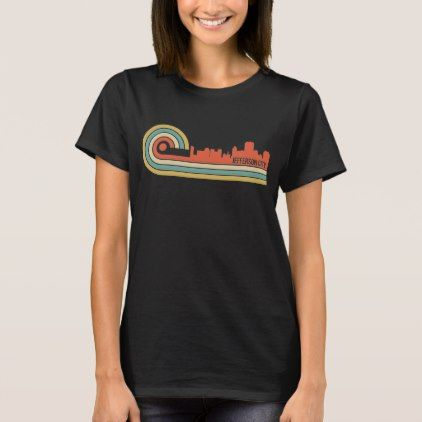 Retro Style Jefferson City Missouri Skyline T-Shirt - retro clothing outfits vintage style custom