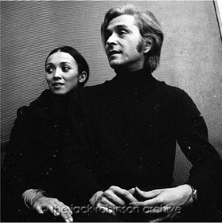 Domenico Gnoli and his wife. Original photography by Jack Robinson, 1969. www.robinsonarchive.com