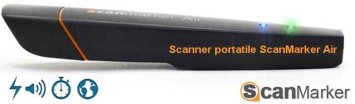 Scansione integrata e riconoscimento accurato     Ti basterà far scorrere ScanMarker su testo o numeri stampati di giornali, riviste, fatture, fax, lettere ecc. e il testo verrà automaticamente trascritto nel tuo computer utilizzando la tecnologia OCR (Optical Character Recognition) di ScanMarker.