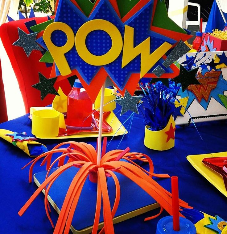 Wonder Woman  Birthday Party Ideas | Photo 6 of 17