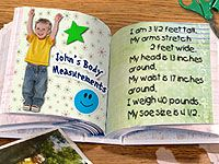 Personal Record Book - Educational Arts and Crafts For Kids - Free Craft Ideas