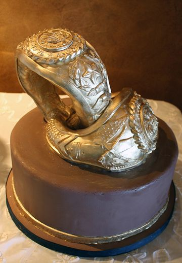 Texas A&M Aggie Ring Cake - Original inspiration for Groom