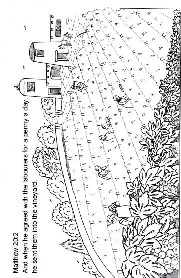 The parable of the vineyard Sunday School lesson~Sunday School Ideas