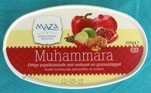 Maza vegan Muhammara - pittige geroosterde paprika's, granaatappelsap en walnoten spread