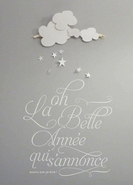 Greeting card - Happy New year Carte - Bonne année - Oh la belle année ©celinevoisin.fr