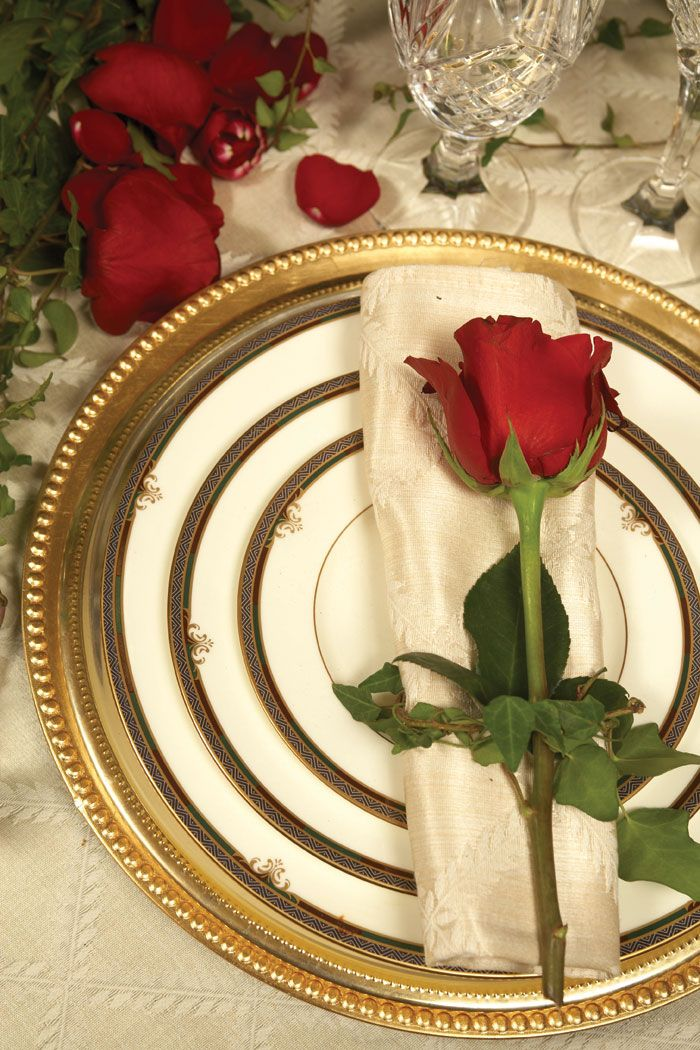 Dress the table as you would for a formal event. The impact of this table setting will certainly rival the meal.