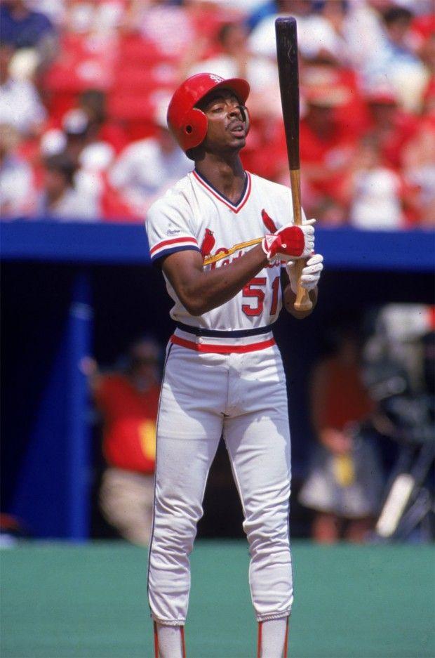 1987 -- St. Louis baseball Cardinal Willie McGee.