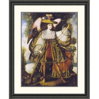 """Global Gallery 'Arcangel Con Arcabuz' by Cuzco Framed Painting Print Size: 40"""" H x 32.69"""" W x 1.5"""" D"""