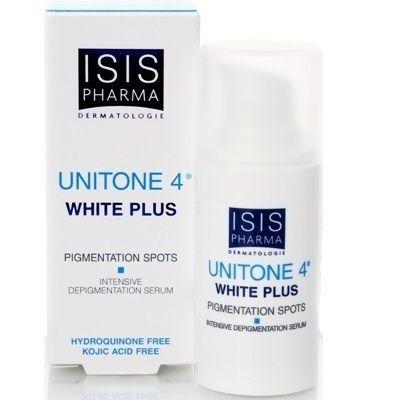 Isis Pharma Unitone 4 White Plus Leke Açıcı Serum 15 ml ürünü, cildinizdeki istenmeyen lekelerin giderilmesine yardımcı olur. Diğer Isis Pharma ürünleri hakkında birçok bilgiye http://www.portakalrengi.com/isis-pharma adresimizi ziyaret ederek ulaşabilirsiniz. #IsisPharma #ciltbakımı #IsisPharmaÜrünleri #LekeKremi