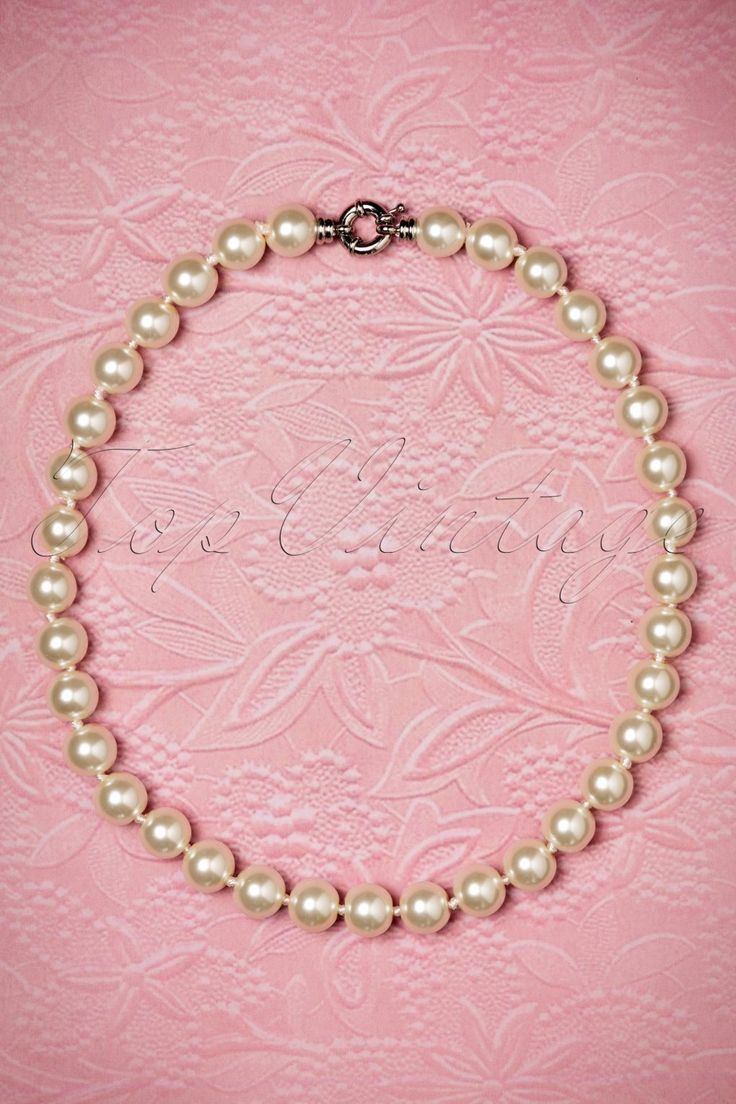 This 50s Annabella Double Pearl Necklace
