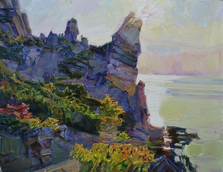 Алексей Петрухин--Утреннее солнце над скалами