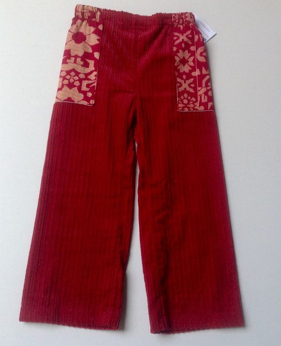 Girls Corduroy Pants with side pockets   Size 4