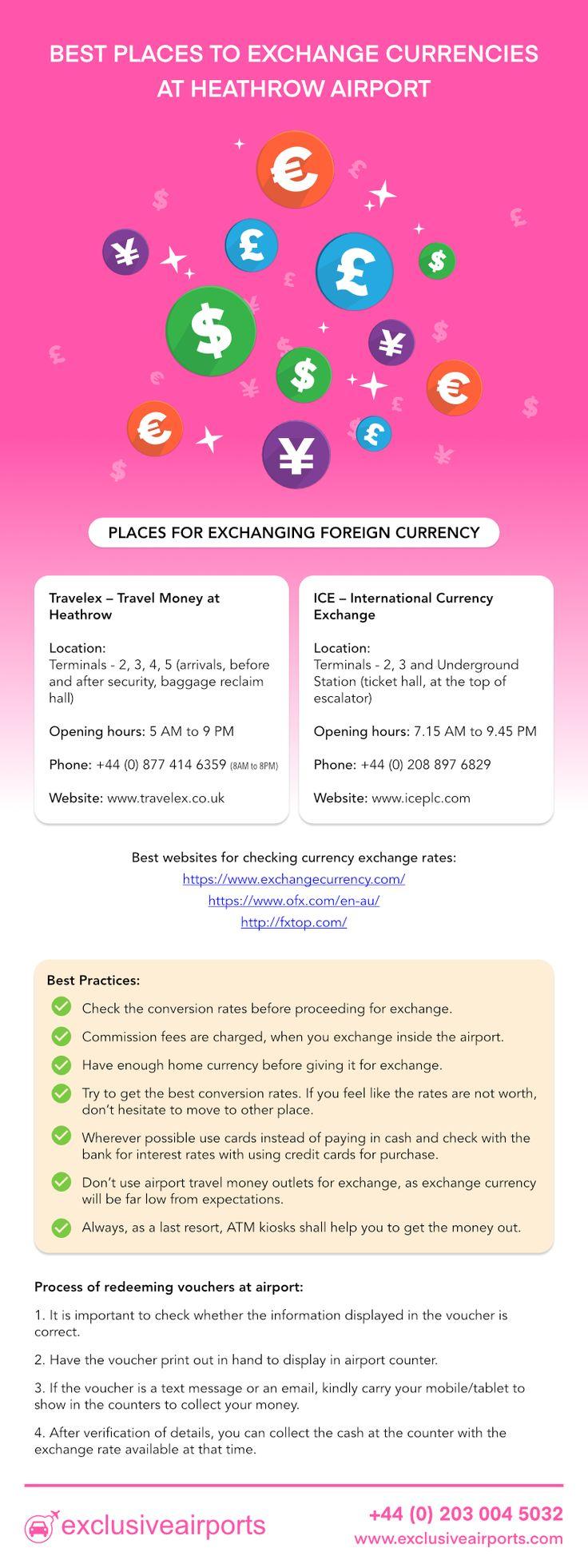 Best Places to Exchange Currencies at #HeathrowAirport.