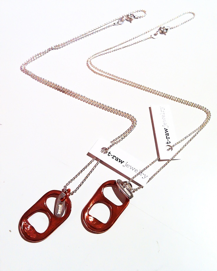 """Open up"" necklace in copper by t-raw jewelry"