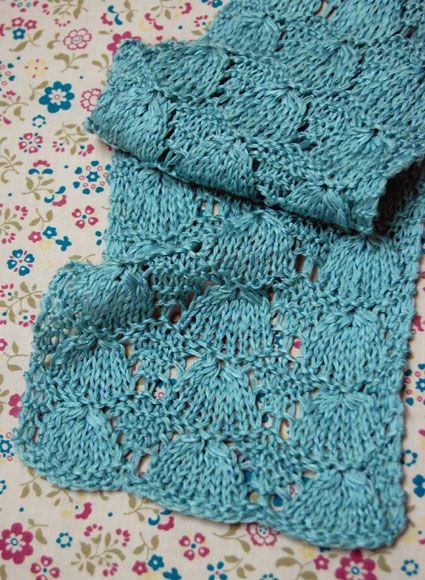 April Showers Scarf By Purl Soho - Free Knitted Pattern - (ravelry)